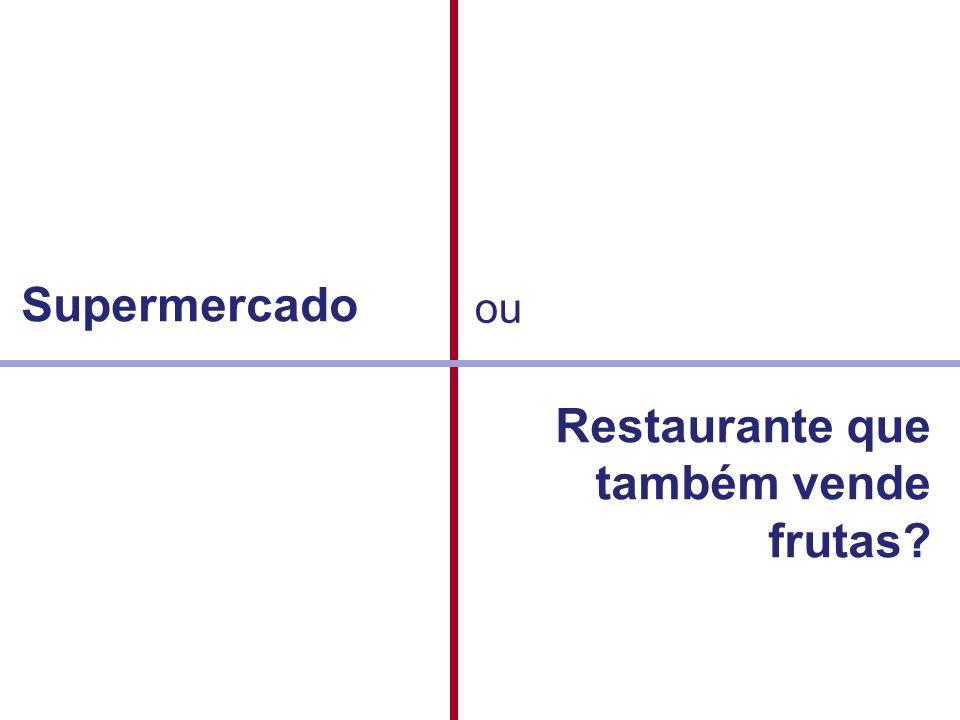 Restaurante que também vende frutas