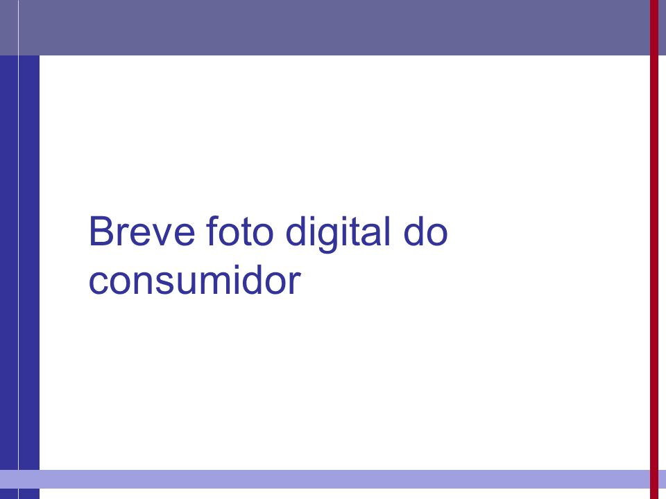 Breve foto digital do consumidor