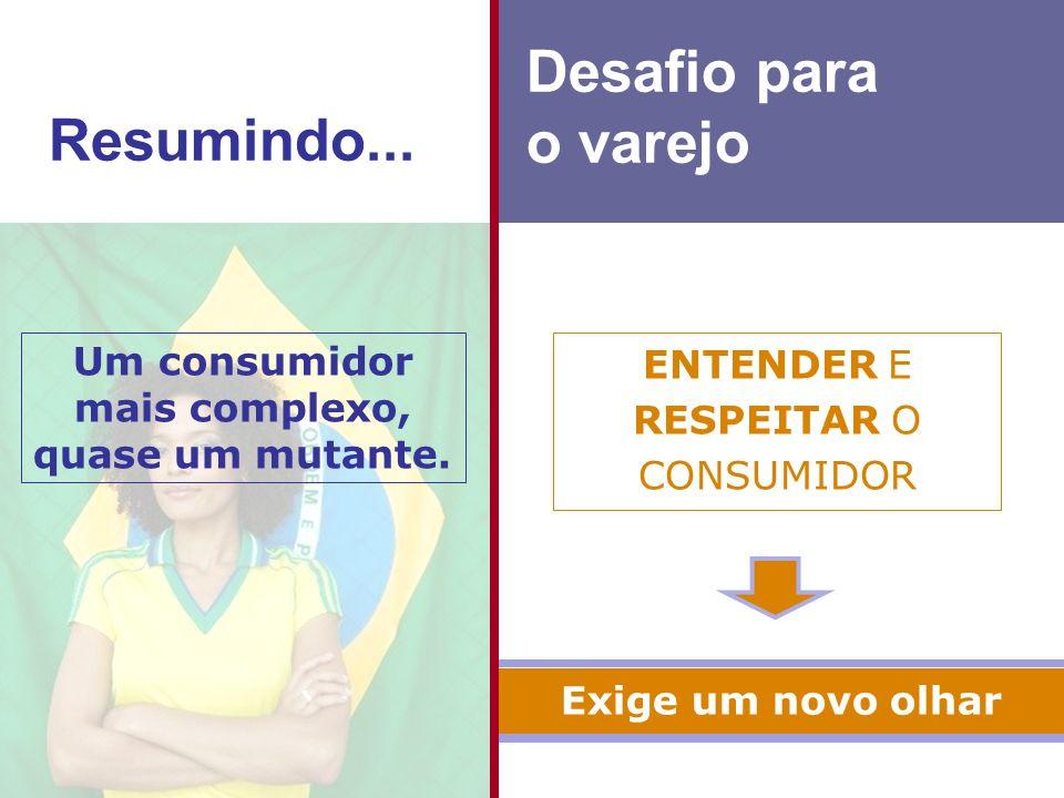 Um consumidor mais complexo, quase um mutante.