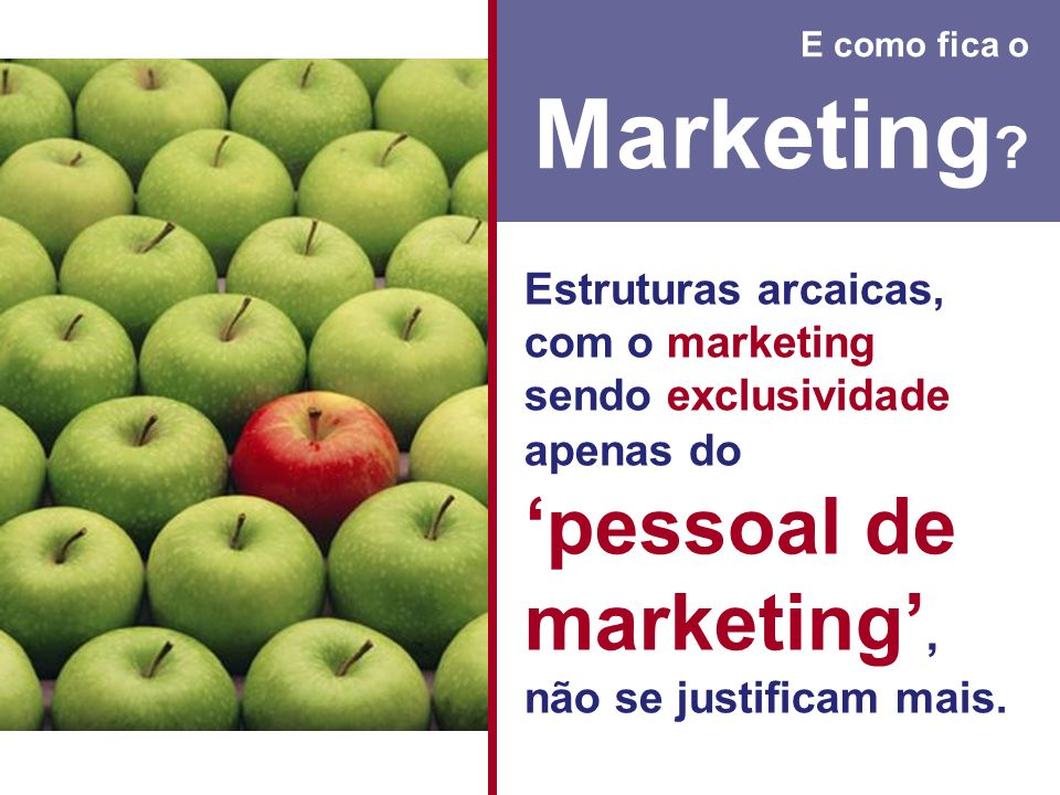 E como fica o Marketing.