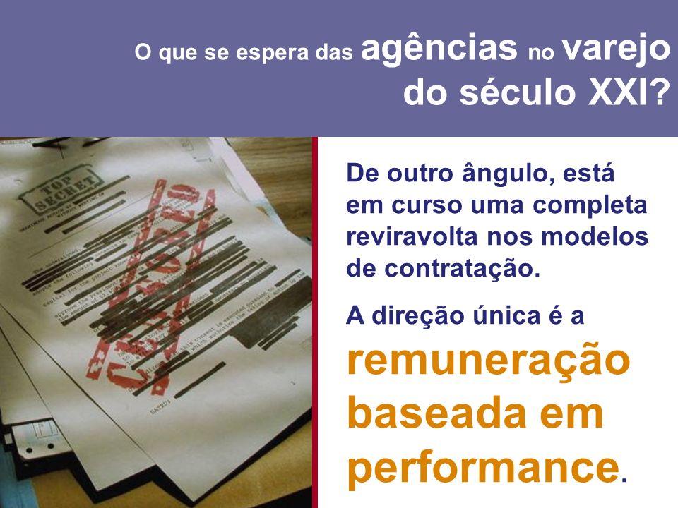 A direção única é a remuneração baseada em performance.