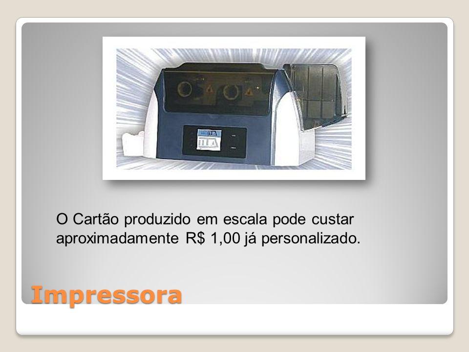 O Cartão produzido em escala pode custar aproximadamente R$ 1,00 já personalizado.