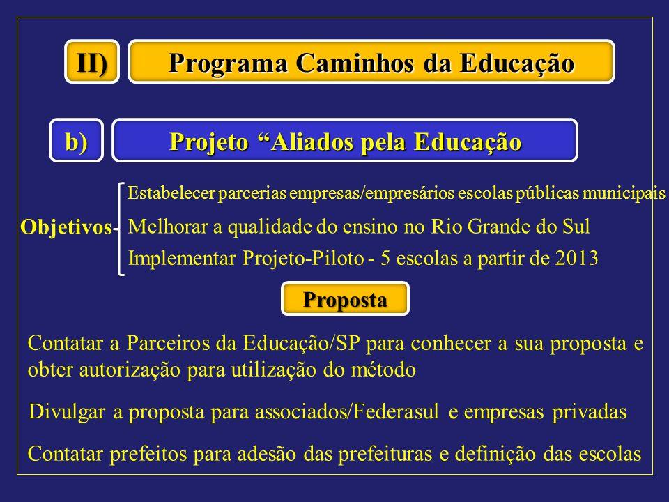 Programa Caminhos da Educação Projeto Aliados pela Educação