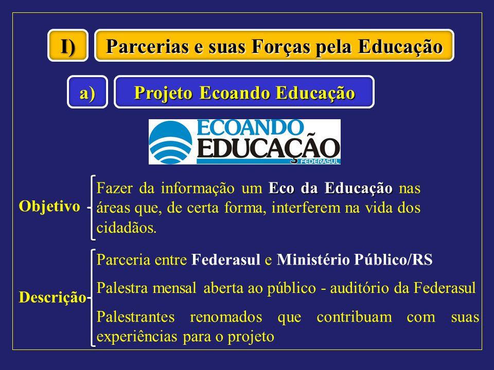 Parcerias e suas Forças pela Educação Projeto Ecoando Educação