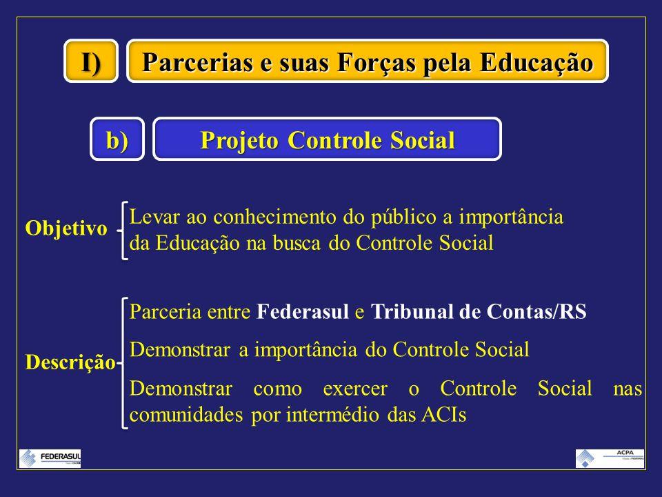 Parcerias e suas Forças pela Educação Projeto Controle Social
