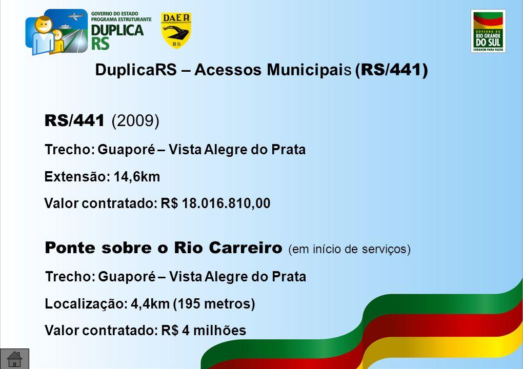 DuplicaRS – Acessos Municipais (RS/441)