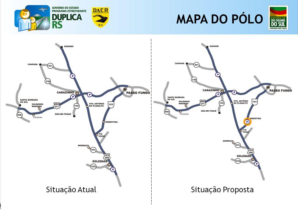 MAPA DO PÓLO Situação Atual Situação Proposta 65 65