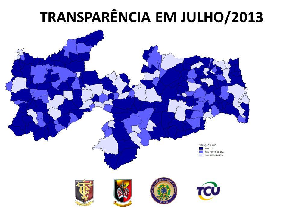 TRANSPARÊNCIA EM JULHO/2013