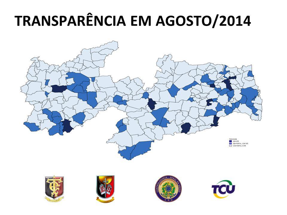 TRANSPARÊNCIA EM AGOSTO/2014
