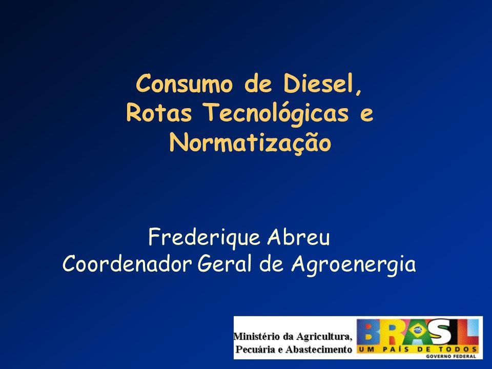 Consumo de Diesel, Rotas Tecnológicas e Normatização