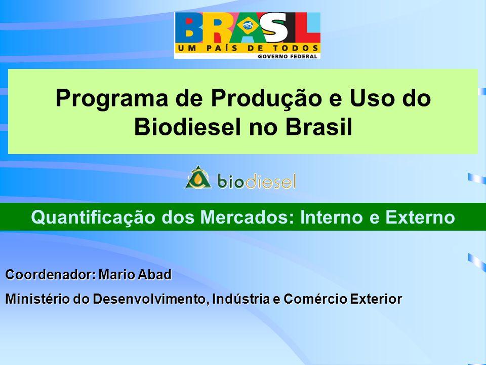 Programa de Produção e Uso do Biodiesel no Brasil