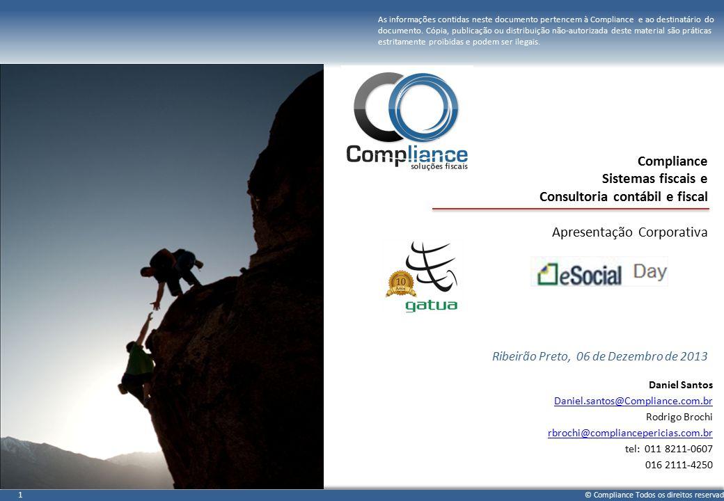 Compliance Sistemas fiscais e Consultoria contábil e fiscal Apresentação Corporativa