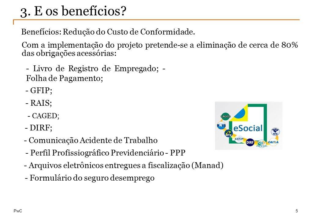 3. E os benefícios Benefícios: Redução do Custo de Conformidade.