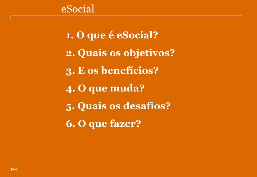 eSocial 1. O que é eSocial 2. Quais os objetivos 3. E os benefícios