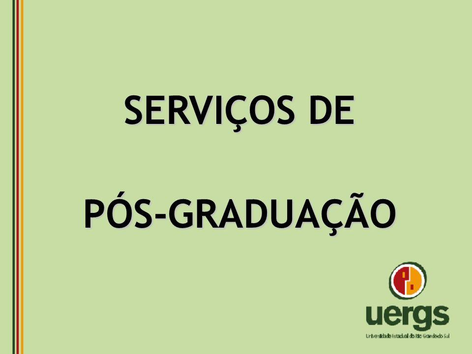 SERVIÇOS DE PÓS-GRADUAÇÃO