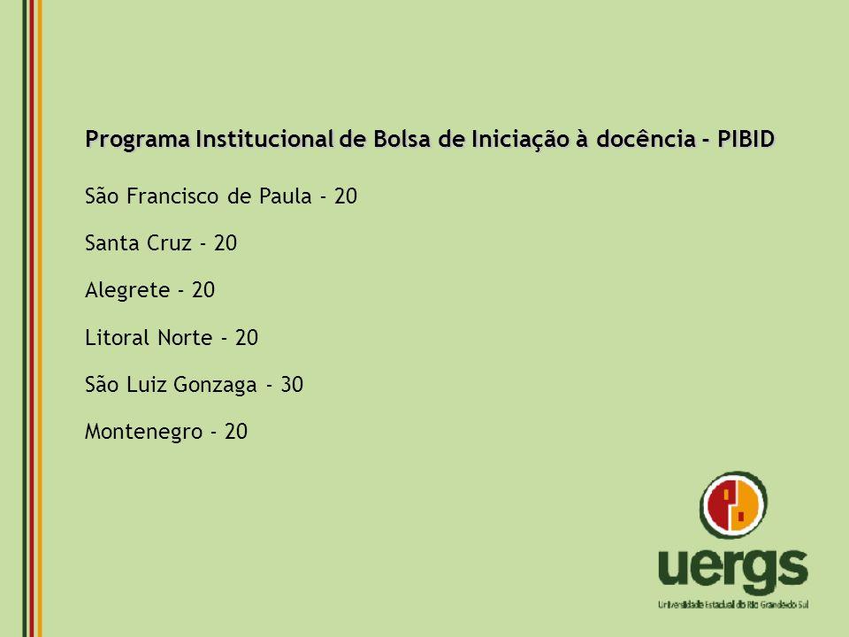 Programa Institucional de Bolsa de Iniciação à docência - PIBID