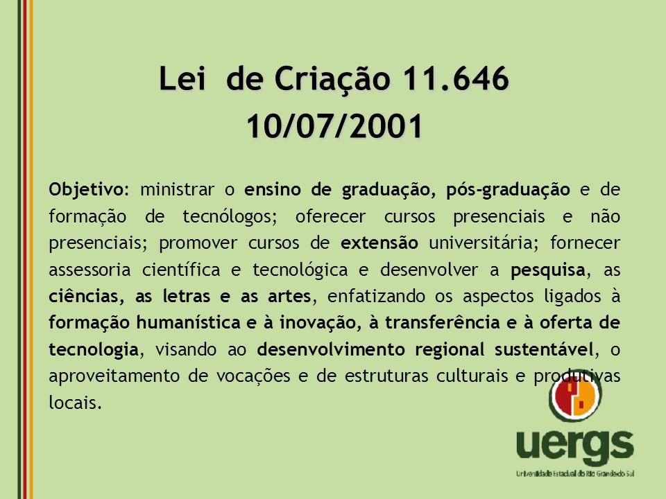 Lei de Criação 11.646 10/07/2001.