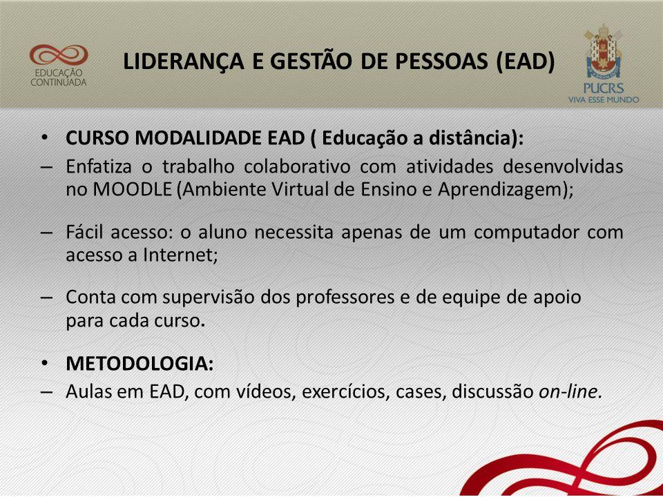 LIDERANÇA E GESTÃO DE PESSOAS (EAD)