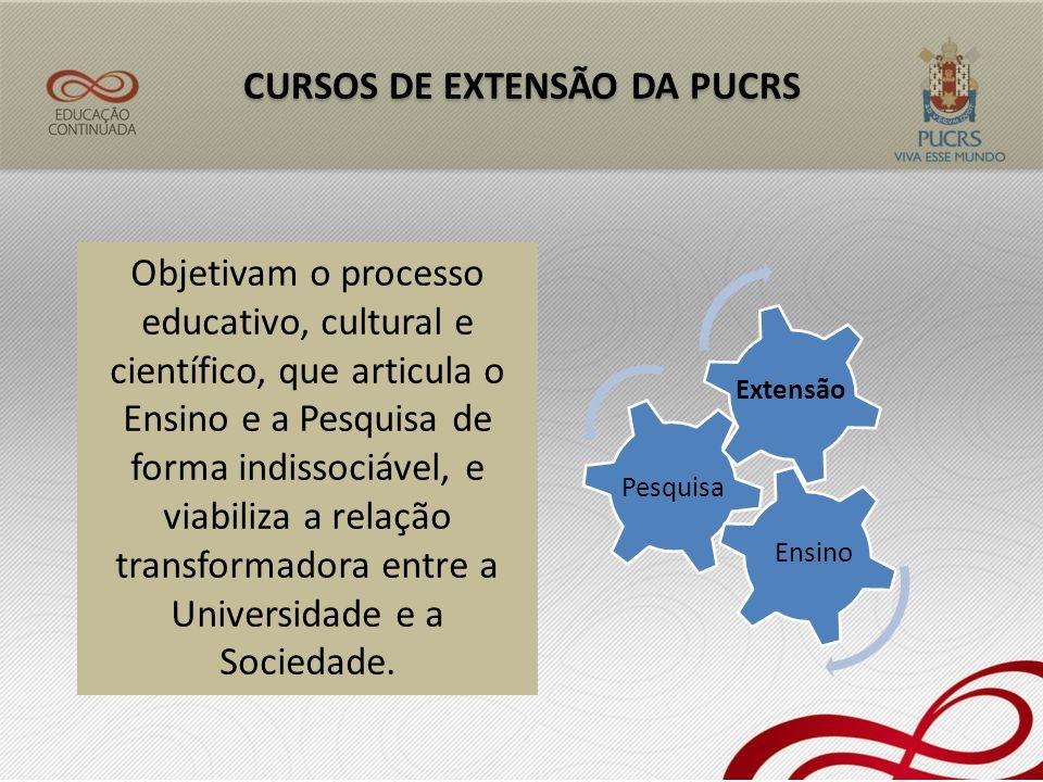 CURSOS DE EXTENSÃO DA PUCRS
