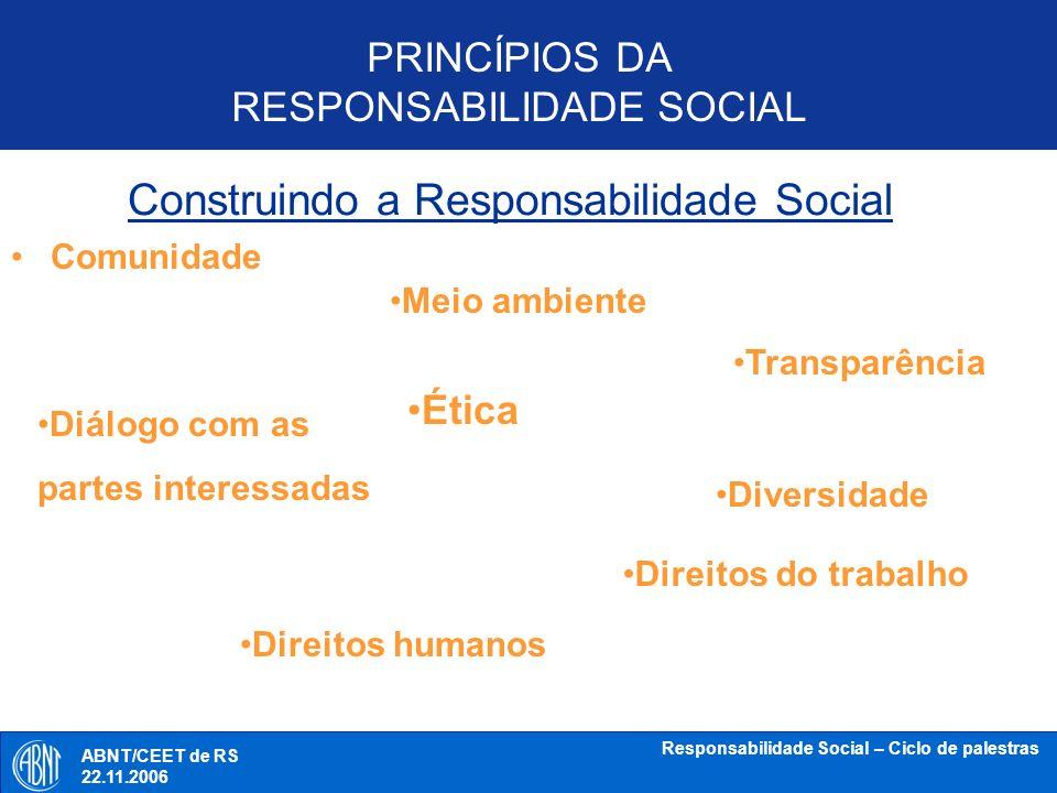 Construindo a Responsabilidade Social