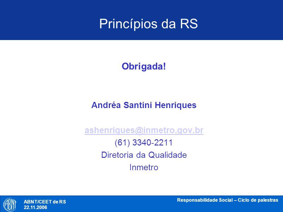 Andréa Santini Henriques Responsabilidade Social – Ciclo de palestras