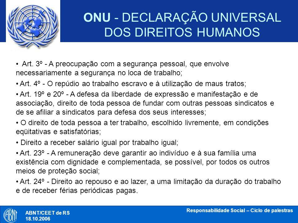 ONU - DECLARAÇÃO UNIVERSAL DOS DIREITOS HUMANOS