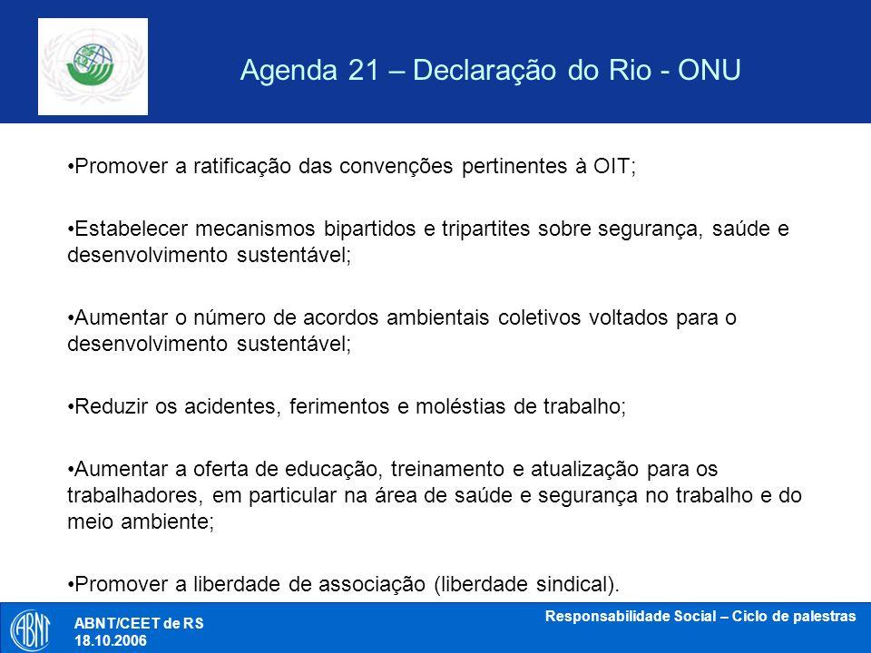 Agenda 21 – Declaração do Rio - ONU