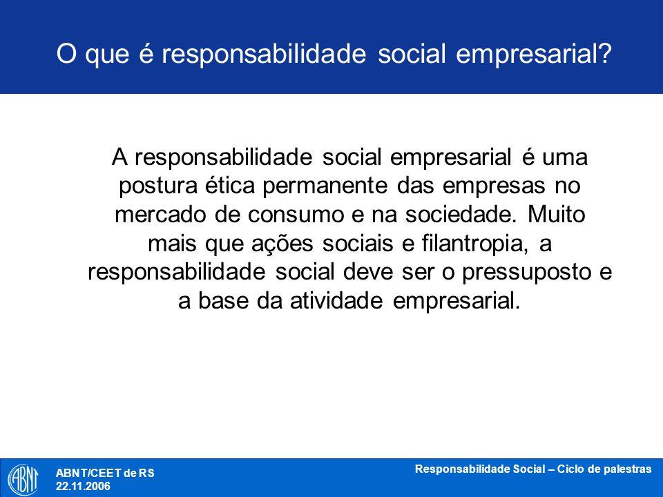O que é responsabilidade social empresarial