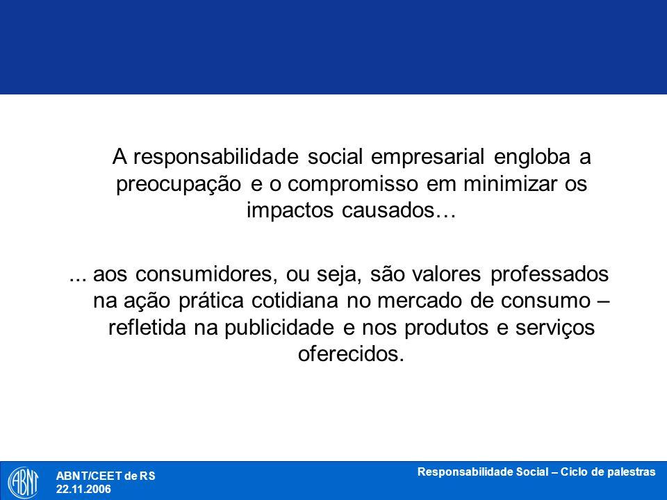 Responsabilidade Social – Ciclo de palestras