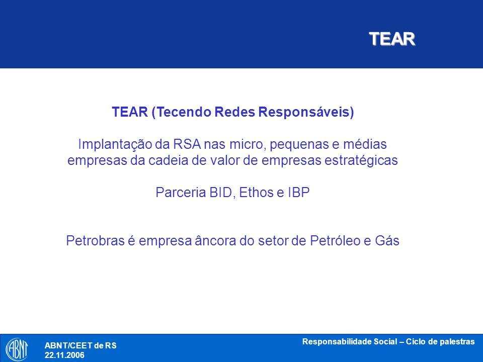 TEAR TEAR (Tecendo Redes Responsáveis)