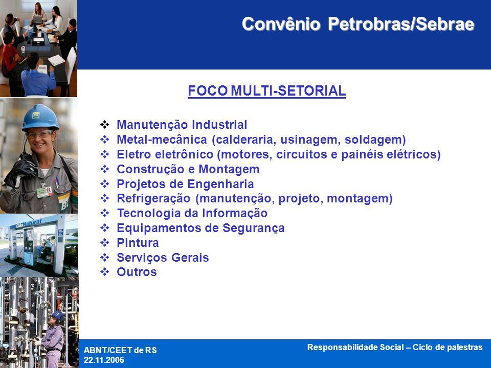 Convênio Petrobras/Sebrae Responsabilidade Social – Ciclo de palestras
