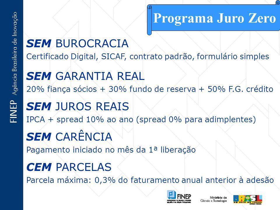 Programa Juro Zero SEM BUROCRACIA SEM GARANTIA REAL SEM JUROS REAIS