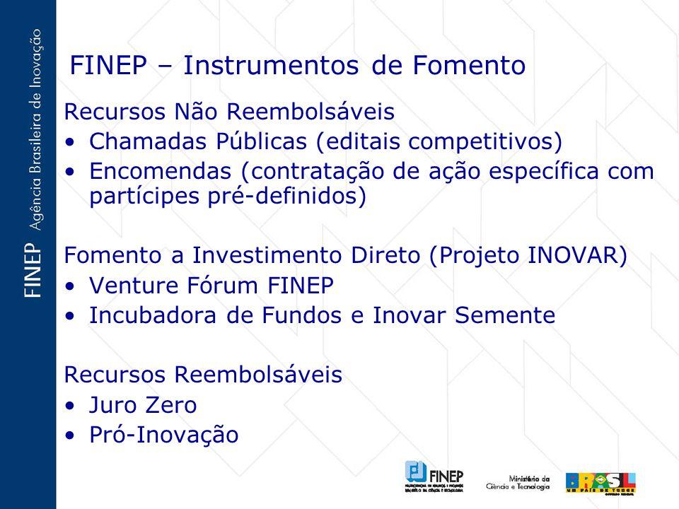 FINEP – Instrumentos de Fomento