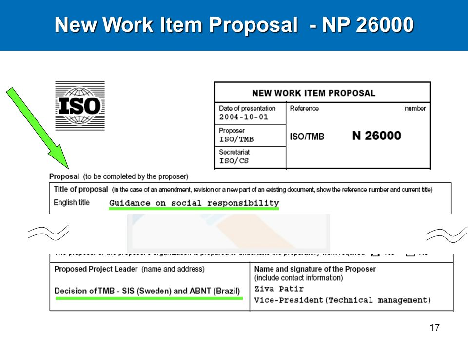 New Work Item Proposal - NP 26000