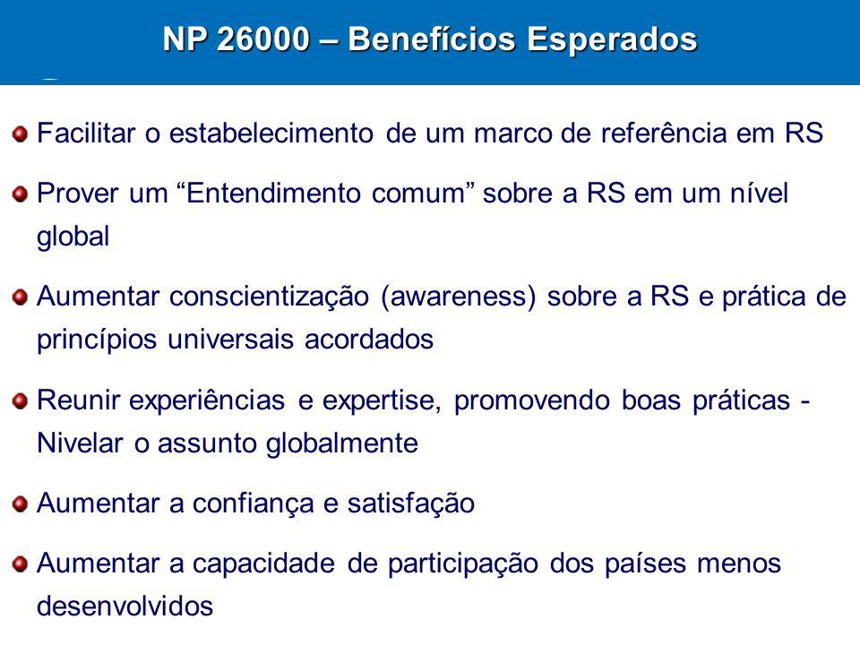 NP 26000 – Benefícios Esperados