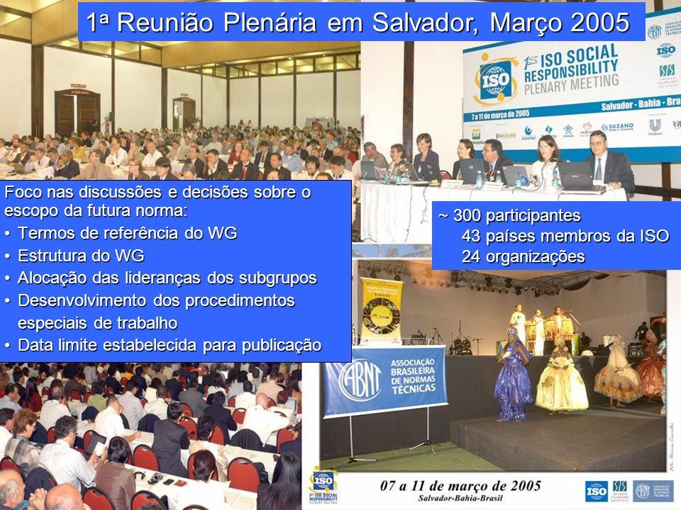 1a Reunião Plenária em Salvador, Março 2005