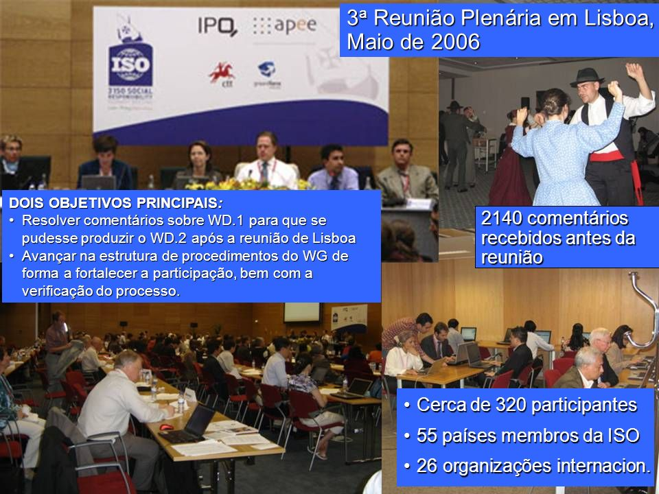 3a Reunião Plenária em Lisboa, Maio de 2006