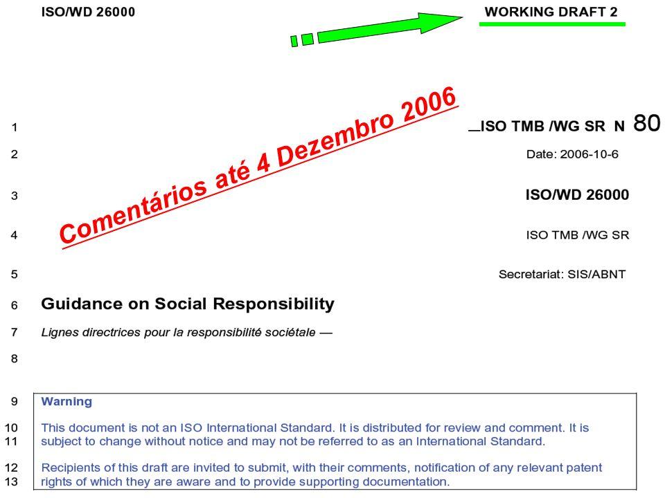 Comentários até 4 Dezembro 2006