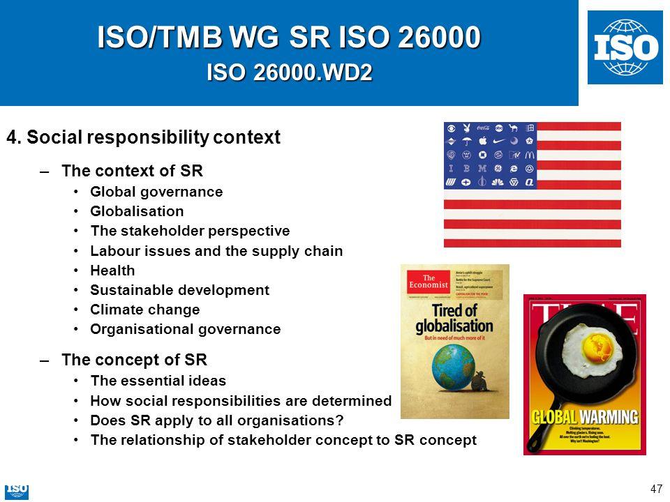 ISO/TMB WG SR ISO 26000 ISO 26000.WD2 4. Social responsibility context