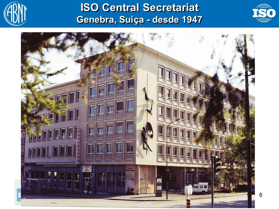 ISO Central Secretariat Genebra, Suíça - desde 1947