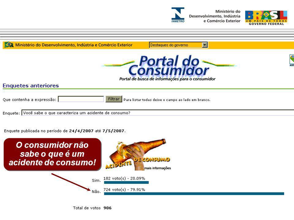 O consumidor não sabe o que é um acidente de consumo!