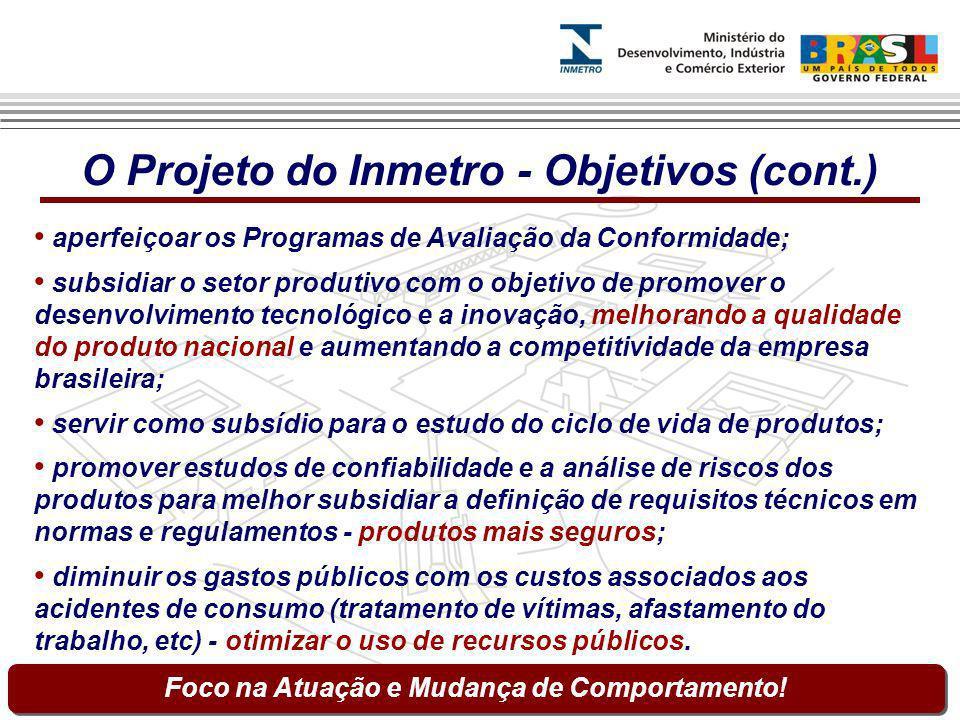 O Projeto do Inmetro - Objetivos (cont.)