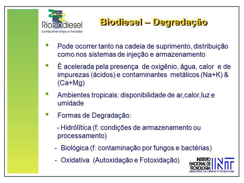 Biodiesel – Degradação