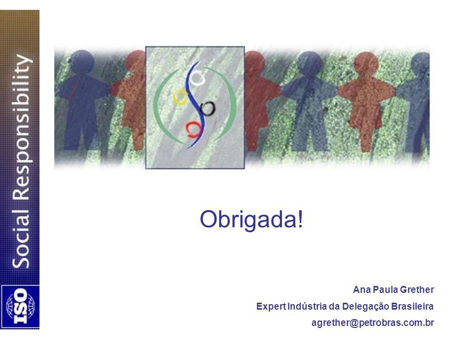 Obrigada! Ana Paula Grether Expert Indústria da Delegação Brasileira