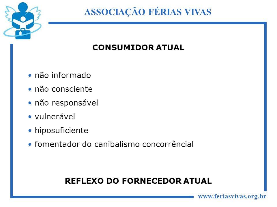 ASSOCIAÇÃO FÉRIAS VIVAS REFLEXO DO FORNECEDOR ATUAL