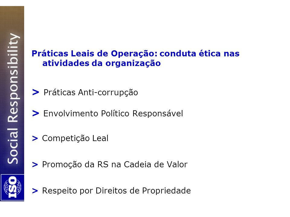 > Práticas Anti-corrupção > Envolvimento Político Responsável