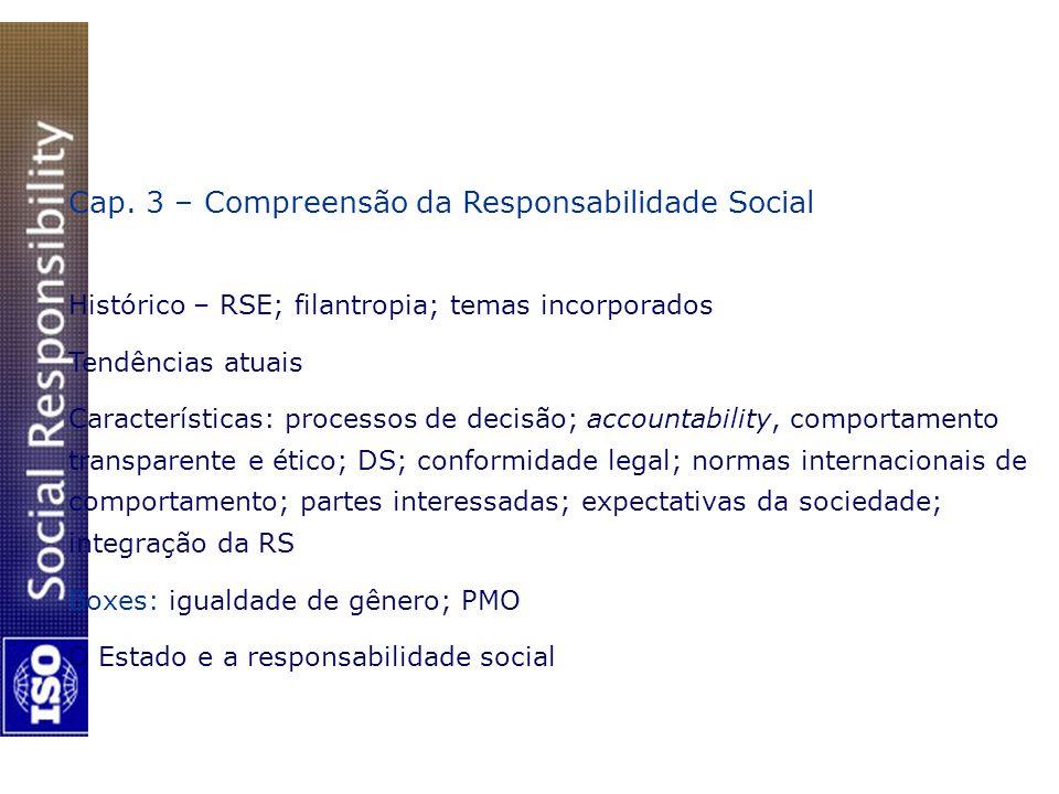 Cap. 3 – Compreensão da Responsabilidade Social