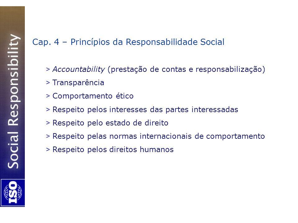 Cap. 4 – Princípios da Responsabilidade Social