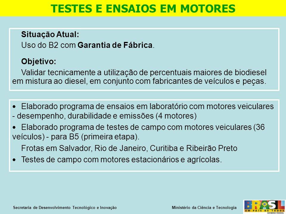 TESTES E ENSAIOS EM MOTORES