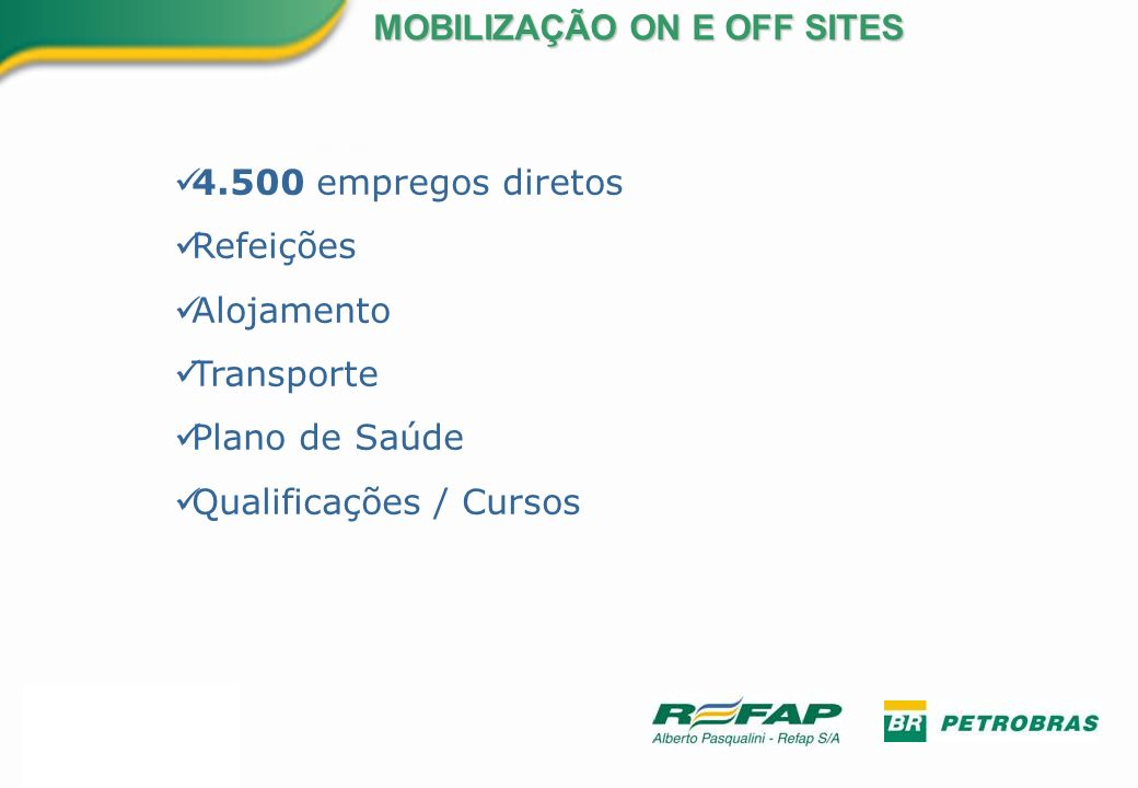 MOBILIZAÇÃO ON E OFF SITES
